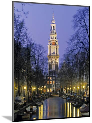 Zuiderkerkand Canal at Night, Amsterdam, Holland-Jon Arnold-Mounted Photographic Print