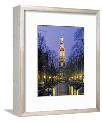 Zuiderkerkand Canal at Night, Amsterdam, Holland-Jon Arnold-Framed Art Print