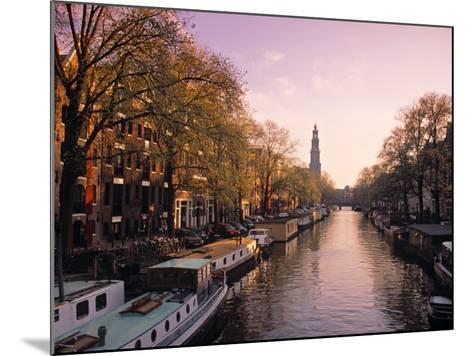 Westerkerk, Prinsengracht Canal, Amsterdam, Holland-Jon Arnold-Mounted Photographic Print