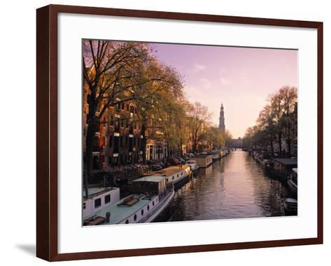 Westerkerk, Prinsengracht Canal, Amsterdam, Holland-Jon Arnold-Framed Art Print