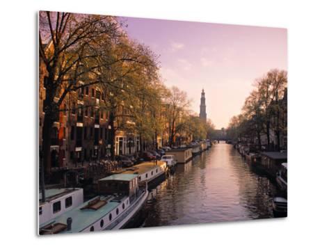 Westerkerk, Prinsengracht Canal, Amsterdam, Holland-Jon Arnold-Metal Print