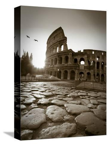 Colosseum and Via Sacra, Rome, Italy-Michele Falzone-Stretched Canvas Print