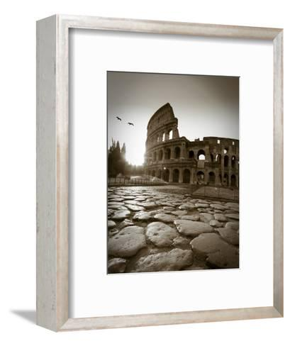 Colosseum and Via Sacra, Rome, Italy-Michele Falzone-Framed Art Print