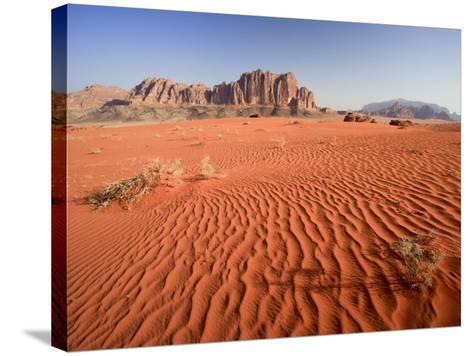 Desert Sands, Wadi Rum Desert and Jebel Qattar Mountain, Jordan-Michele Falzone-Stretched Canvas Print
