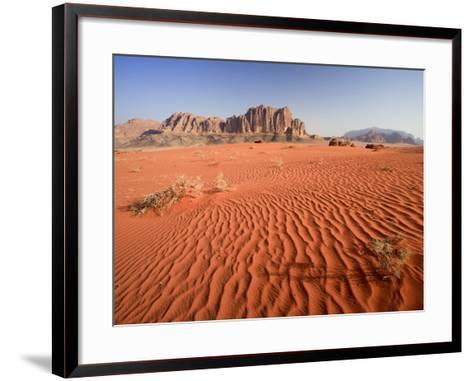 Desert Sands, Wadi Rum Desert and Jebel Qattar Mountain, Jordan-Michele Falzone-Framed Art Print