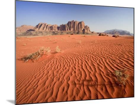 Desert Sands, Wadi Rum Desert and Jebel Qattar Mountain, Jordan-Michele Falzone-Mounted Photographic Print