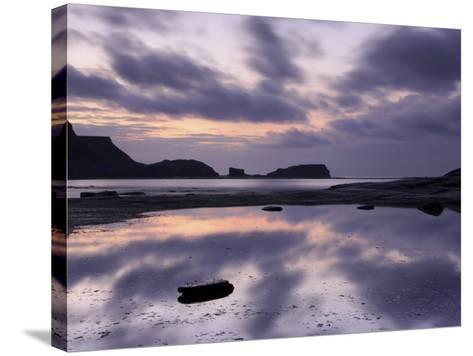Seascape, Staithes, North Yorkshire, England, UK-Nadia Isakova-Stretched Canvas Print