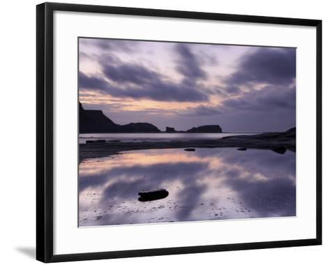 Seascape, Staithes, North Yorkshire, England, UK-Nadia Isakova-Framed Art Print