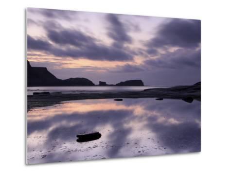 Seascape, Staithes, North Yorkshire, England, UK-Nadia Isakova-Metal Print