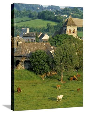 Junac, Montsalvy, Auvergne, France-Peter Adams-Stretched Canvas Print