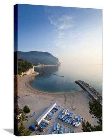 Beach, Sirolo, Marche, Italy-Peter Adams-Stretched Canvas Print