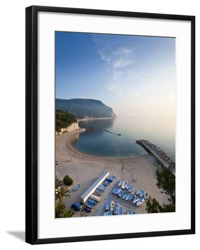 Beach, Sirolo, Marche, Italy-Peter Adams-Framed Art Print