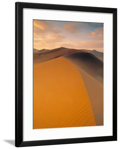 Sand Dune in Desert, Namib Desert, Namibia-Peter Adams-Framed Art Print