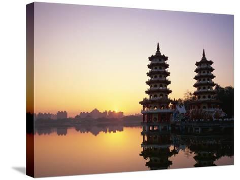 Taiwan, Kaohsiung, Lotus Lake, Dragon and Tiger Pagodas-Steve Vidler-Stretched Canvas Print