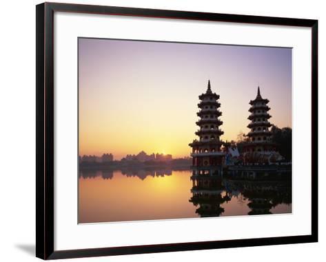 Taiwan, Kaohsiung, Lotus Lake, Dragon and Tiger Pagodas-Steve Vidler-Framed Art Print