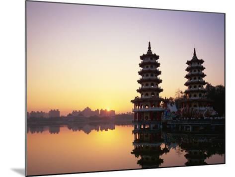 Taiwan, Kaohsiung, Lotus Lake, Dragon and Tiger Pagodas-Steve Vidler-Mounted Photographic Print
