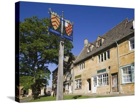 England, Gloustershire, Cotswolds, Chipping Campden, Heraldic Town Sign-Steve Vidler-Stretched Canvas Print