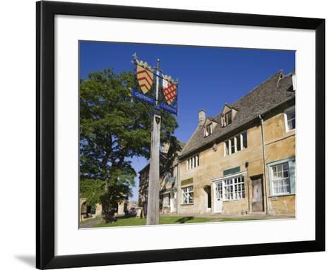 England, Gloustershire, Cotswolds, Chipping Campden, Heraldic Town Sign-Steve Vidler-Framed Art Print