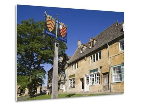 England, Gloustershire, Cotswolds, Chipping Campden, Heraldic Town Sign-Steve Vidler-Metal Print
