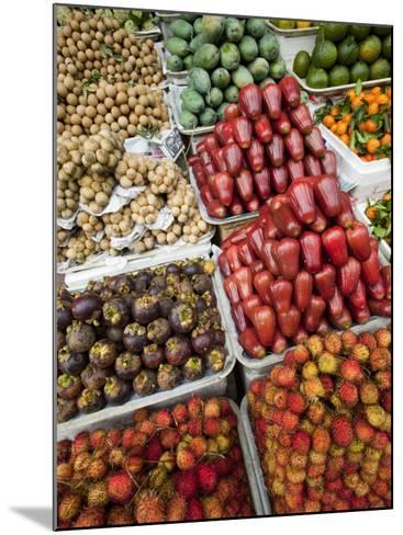 Vietnam, Ho Chi Minh City, Ben Thanh Market, Fruit Display-Steve Vidler-Mounted Photographic Print