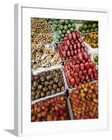 Vietnam, Ho Chi Minh City, Ben Thanh Market, Fruit Display-Steve Vidler-Framed Art Print