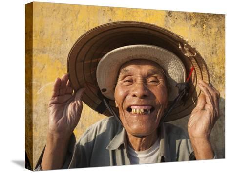 Vietnam, Hoi An, Portrait of Elderly Fisherman-Steve Vidler-Stretched Canvas Print