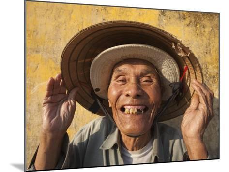 Vietnam, Hoi An, Portrait of Elderly Fisherman-Steve Vidler-Mounted Photographic Print