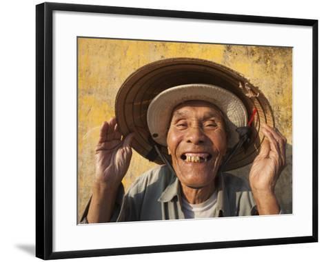 Vietnam, Hoi An, Portrait of Elderly Fisherman-Steve Vidler-Framed Art Print