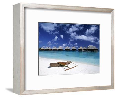 Beach at Bora Bora Nui Resort, Bora Bora, French Polynesia-Walter Bibikow-Framed Art Print
