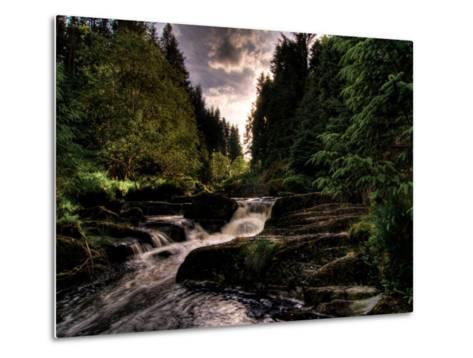 Waterfall, River Severn, Hafren Forest, Wales-Clive Nolan-Metal Print