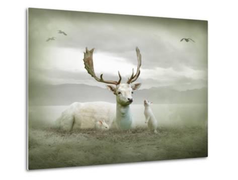 The White Stag-Lynne Davies-Metal Print