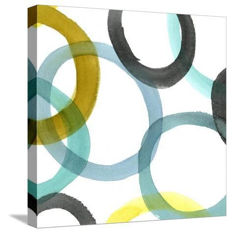 Non-Embellished Round and Round I--Stretched Canvas Print