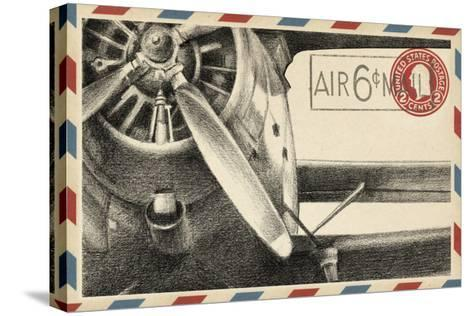 Small Vintage Airmail II-Ethan Harper-Stretched Canvas Print