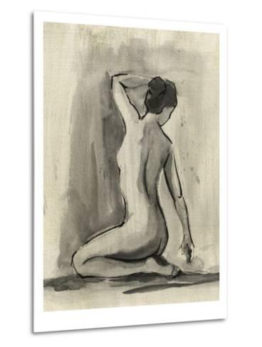Sumi-e Figure I-Ethan Harper-Metal Print