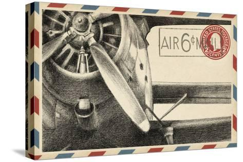 Vintage Airmail II-Ethan Harper-Stretched Canvas Print