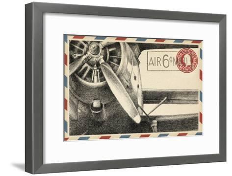 Vintage Airmail II-Ethan Harper-Framed Art Print