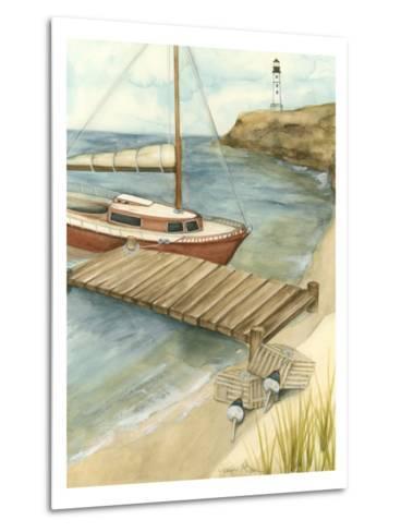 Shoreline Dock II-Jennifer Goldberger-Metal Print