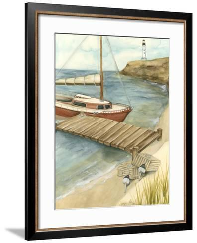 Shoreline Dock II-Jennifer Goldberger-Framed Art Print