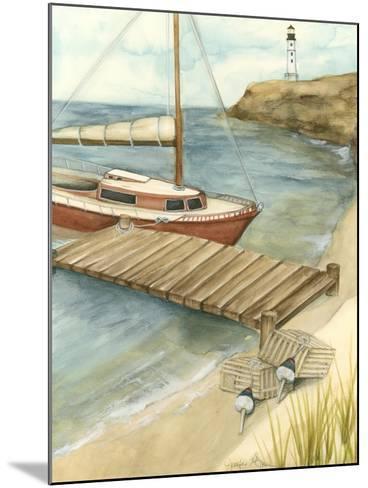 Shoreline Dock II-Jennifer Goldberger-Mounted Art Print