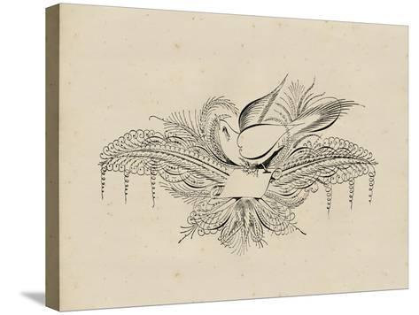 Victorian Quill I--Stretched Canvas Print