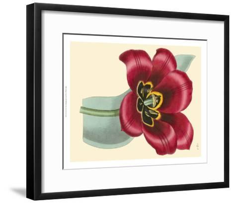 Elegant Tulips IV-Vision Studio-Framed Art Print