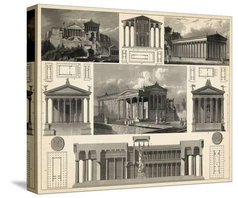 Antique City Plan I-Vision Studio-Stretched Canvas Print