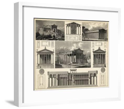 Antique City Plan I-Vision Studio-Framed Art Print