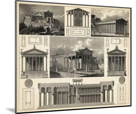 Antique City Plan I-Vision Studio-Mounted Art Print
