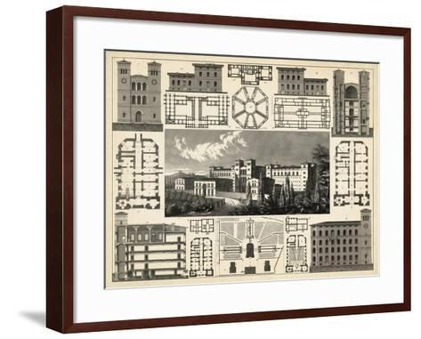 Antique City Plan III-Vision Studio-Framed Art Print