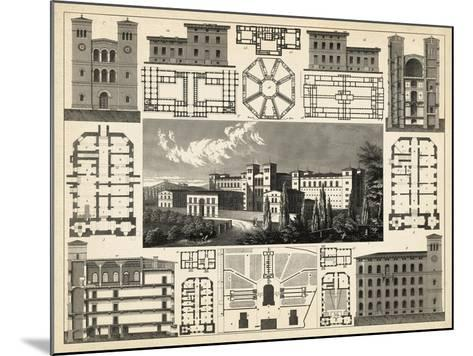 Antique City Plan III-Vision Studio-Mounted Art Print