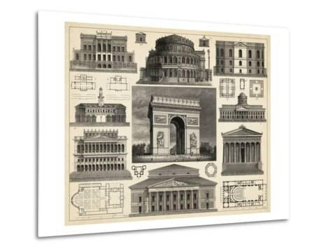 Antique City Plan IV-Vision Studio-Metal Print