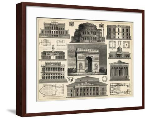 Antique City Plan IV-Vision Studio-Framed Art Print