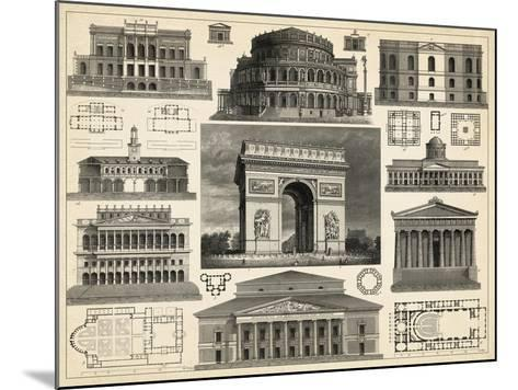 Antique City Plan IV-Vision Studio-Mounted Art Print