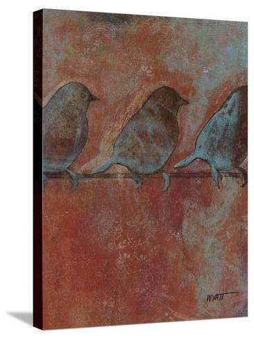 Row of Sparrows II--Stretched Canvas Print